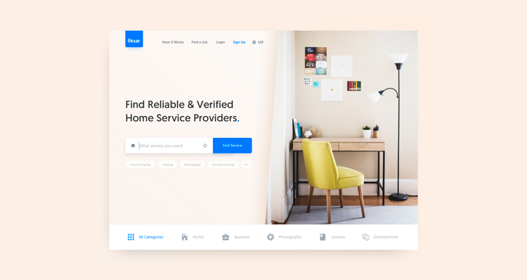Home Services   Landing Page   Uikits